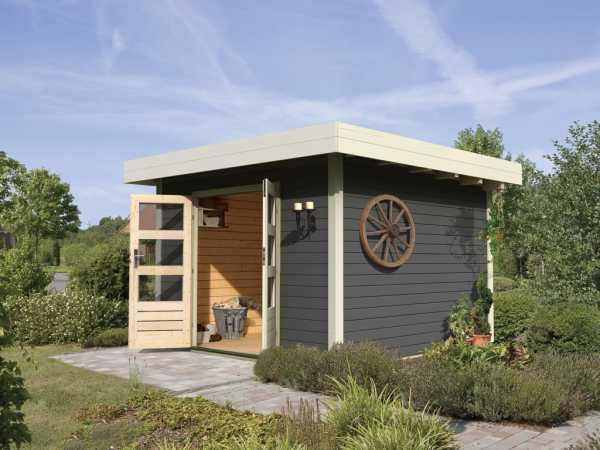 gartenhaus diemelsee 28 mm terragrau 761090. Black Bedroom Furniture Sets. Home Design Ideas