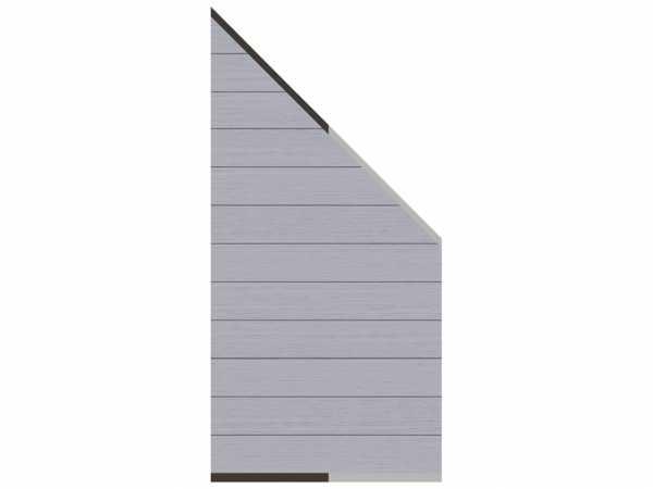 Sichtschutzzaun SYSTEM WPC Zaun-Anschluss-Set Abschlusselement Grau