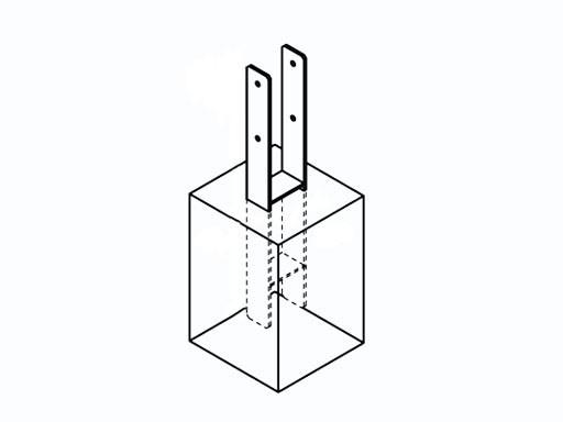 H-Pfostenanker für 90 x 90 mm