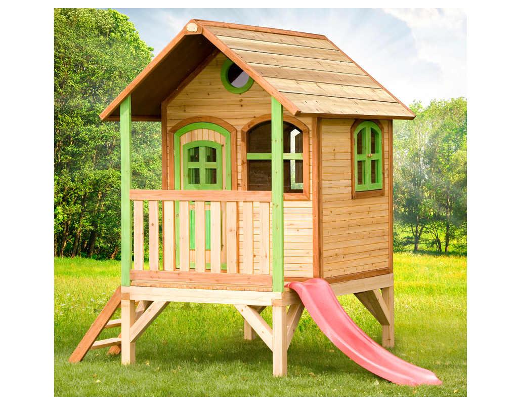 spielhaus tom inkl veranda und rutsche ax0004. Black Bedroom Furniture Sets. Home Design Ideas