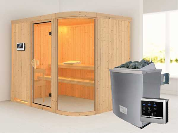 Sauna Systemsauna Parima 4 inkl. 9 kW Saunaofen ext. Steuerung