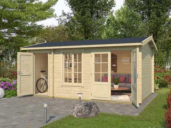 Gartenhaus Blockbohlenhaus Wrexham 2 44 mm naturbelassen