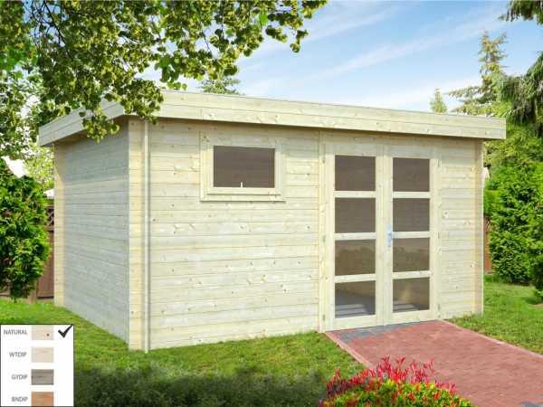 Gartenhaus Blockbohlenhaus Elsa 11,3 m² 28 mm naturbelassen