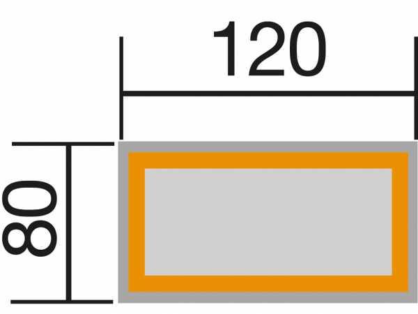 Hochbeet B 120 T 79, 28 mm wekaline