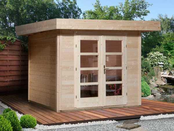 Gartenhaus Designhaus 126 Plus Gr. 3 natur