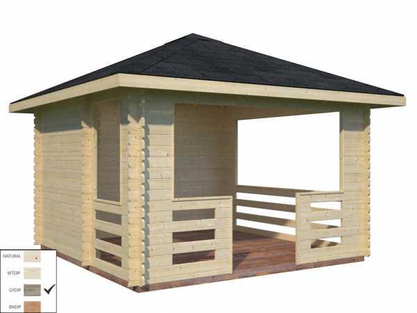 Pavillon Julie 10,5 m² grau tauchimprägniert