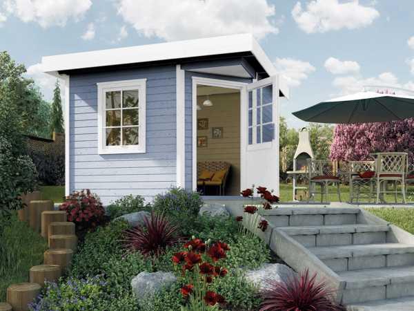 Gartenhaus Designahus 213 Gr. 2 28 mm grau