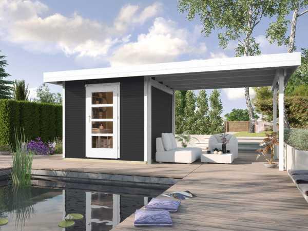 Gartenhaus Designhaus wekaLine 172 B Gr. 2 28 mm anthrazit lasiert