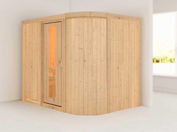 Sauna Systemsauna Titania 4 Energiespartür