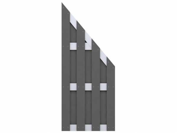 Sichtschutzzaun JUMBO WPC Abschlusselement Anthrazit-Aluminum