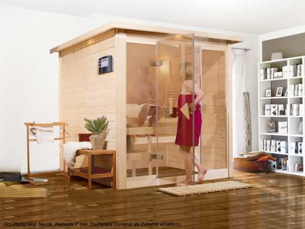 "Sauna Premiumsauna Massivholzsauna ""Alabasta 2"""