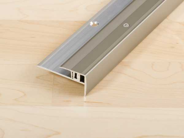Treppenkantenprofil PROSTEP Aluminium eloxiert Edelstahl