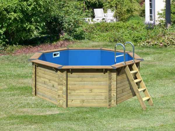 "Pool Holzpool SET ""Premium Modell 1 A"" inkl. Komfort Ausstattung"