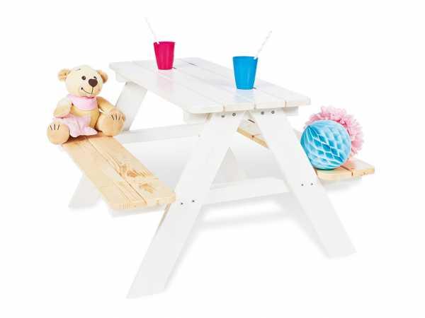Kindersitzgarnitur Nicki für 4 Weiß