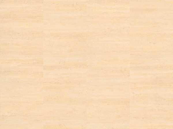 Vinylboden stone Go Bianco Travertine Glue-down Fliese