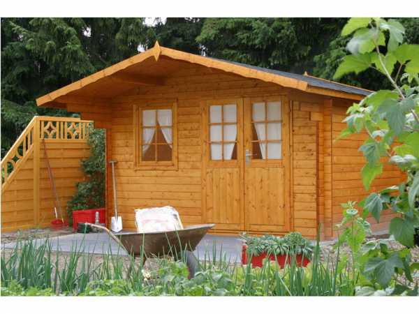 "Gartenhaus Blockbohlenhaus ""Lisa 44-B"" 44 mm naturbelassen"