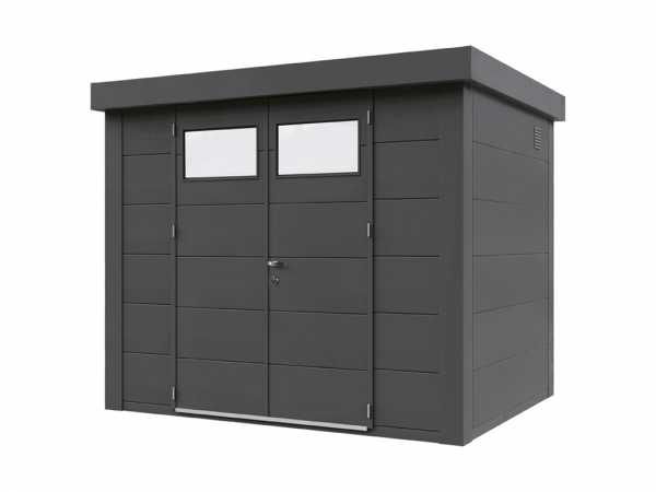 "Gerätehaus aus Metall ""Eleganto 2721"" Granitgrau"