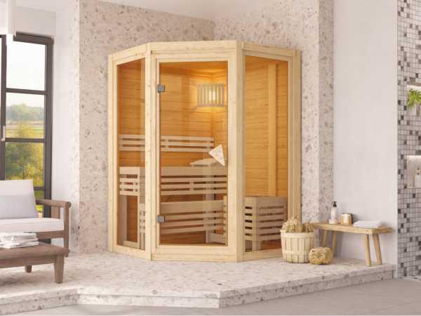 Sauna Systemsauna Carli 1 naturbelassen