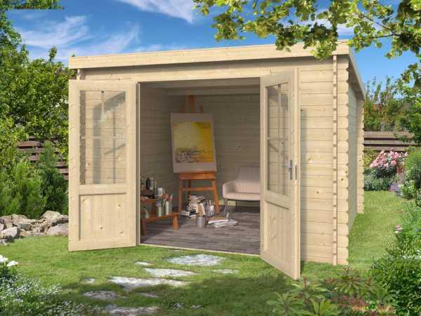 """Gartenhaus Blockbohlenhaus """"Miami"""" 28 mm"""
