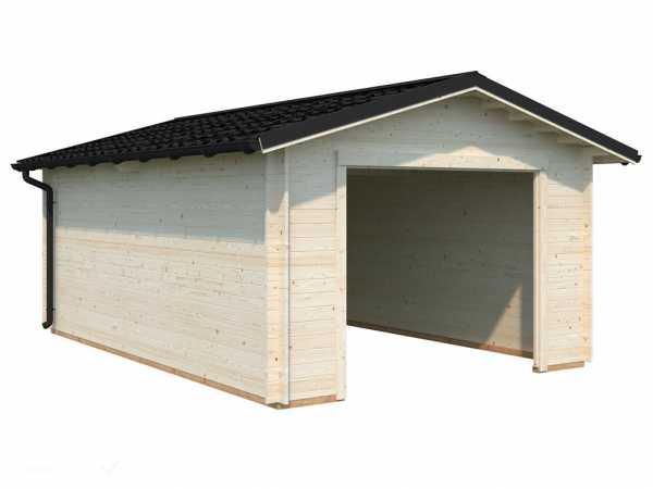 Garage Tomas 19,2 m² ohne Tor 34 mm transparent tauchimprägniert