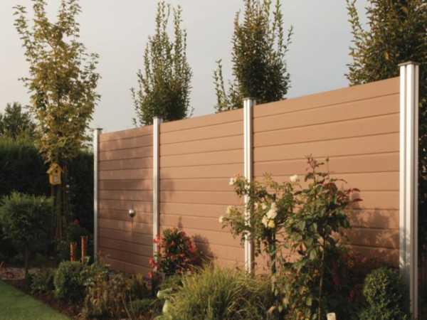 Bohlenset für WPC Steckzaunsystem Multi-Fence braun