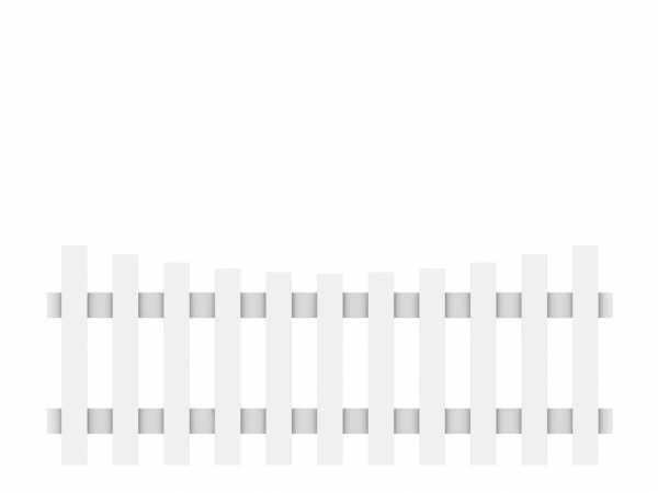 Vorgartenzaun LONGLIFE CARA Hauptelement mit Schwung Weiß