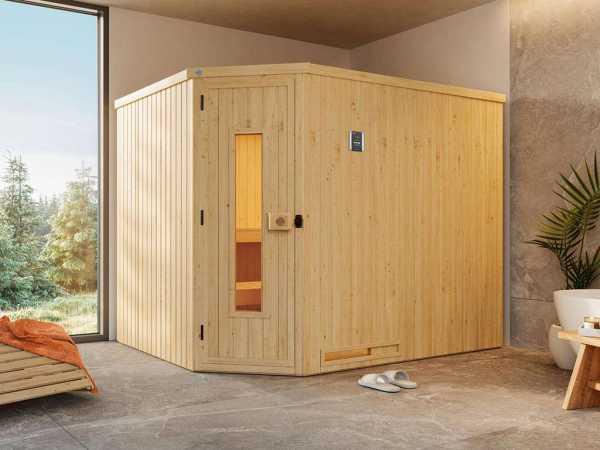 Sauna Systemsauna Varberg 4 mit isolierter Holztür