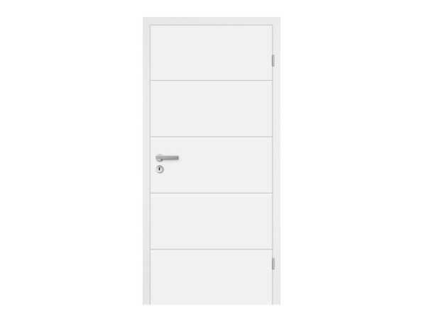 Zimmertür Mala 10 Weißlack RAL 9003, Designkante
