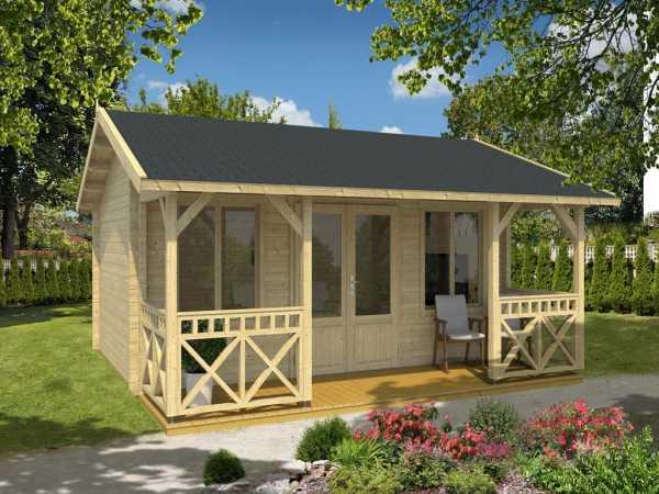 Ferienhaus Blockbohlenhaus Staffordshire 1 70 mm naturbelassen