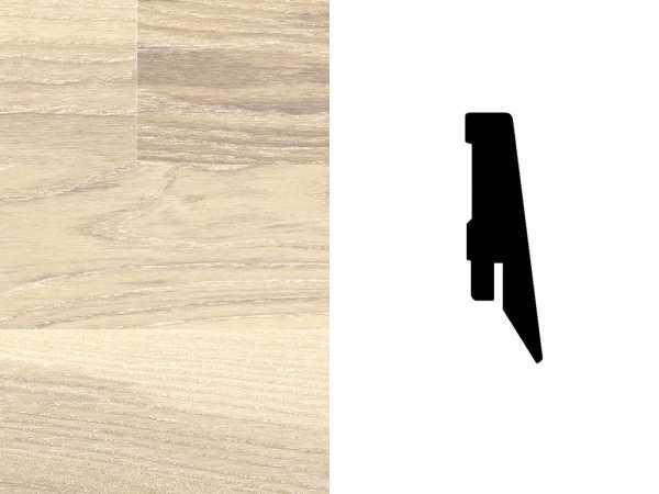 Sockelleiste Esche grauweiß Furnier Profil SKL 60