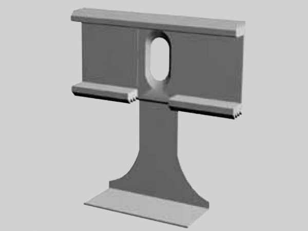 Sockelleisten-Clip für Profile 20 x 45 mm, 20 x 60 mm, 10 x 58 mm