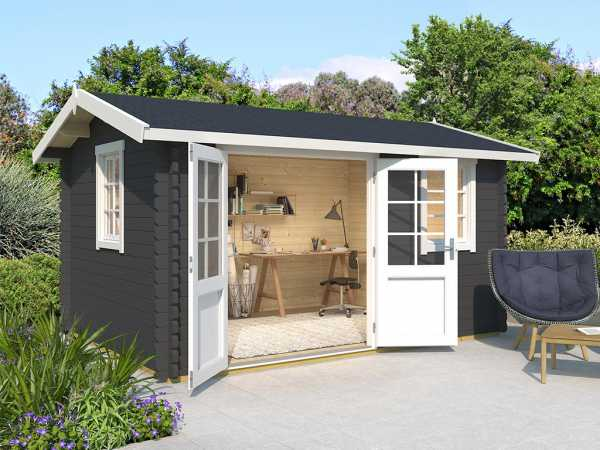 Gartenhaus Blockbohlenhaus Devonshire 43 44 mm carbongrau