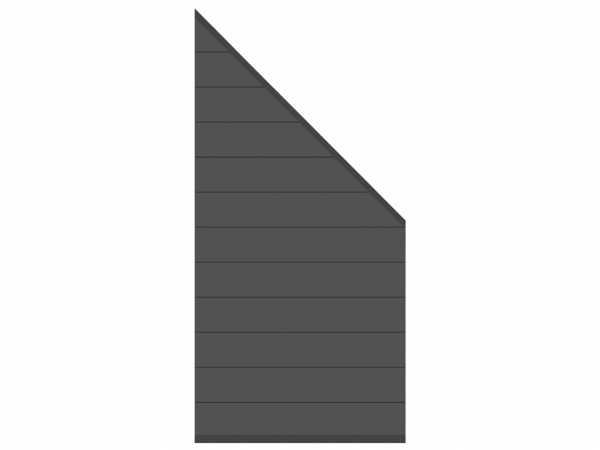 Sichtschutzzaun SYSTEM Alu Zaun-Anschluss-Set Abschlusselement Anthrazit