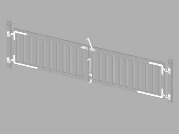 Beschlagsatz für LONGLIFE CLEO Doppeltor