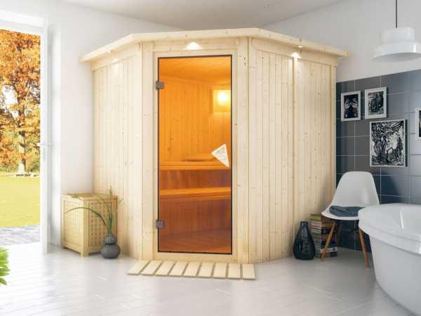 Sauna Systemsauna Lilja mit Dachkranz