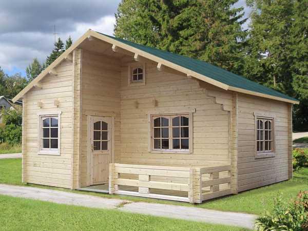 Ferienhaus Blockbohlenhaus Emily 40,1+5,2 m² 70 mm naturbelassen