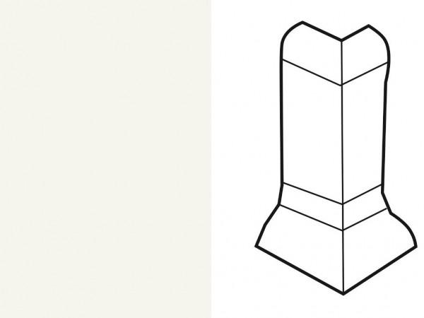 Außenecke für Sockelleiste Profil SKL 22/50 weiß
