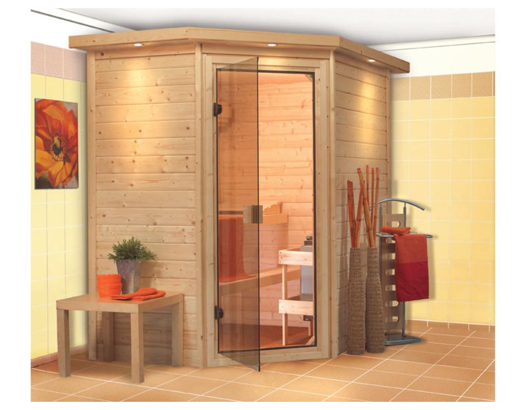 sauna massivholzsauna svea mit dachkranz wo0005. Black Bedroom Furniture Sets. Home Design Ideas
