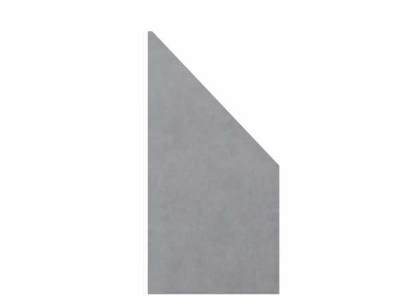 Sichtschutzzaun SYSTEM BOARD KERAMIK Abschlusselement Zement