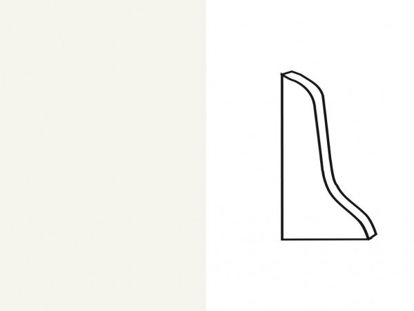 Endkappe für Sockelleiste Profil SKL 22/50 weiß