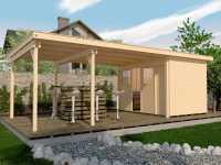 Gartenhaus 225 B Gr. 2 21 mm naturbelassen