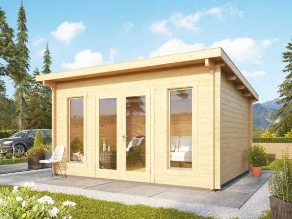 Gartenhaus Blockbohlenhaus Stavanger 2 70 mm naturbelassen inkl. Fußboden
