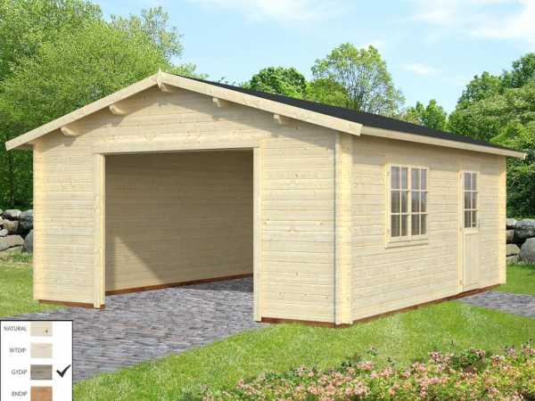 Garage Roger 23,9 m² ohne Tor 44 mm grau tauchimprägniert