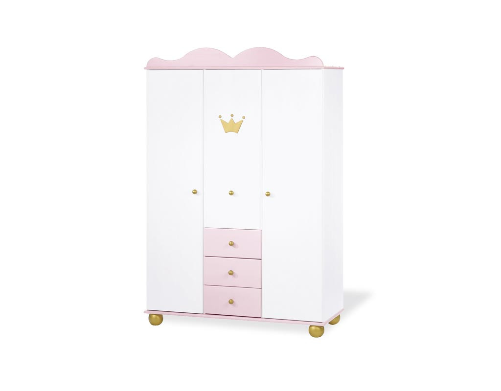 pinolino 141655g kleiderschrank prinzessin karolin gro. Black Bedroom Furniture Sets. Home Design Ideas