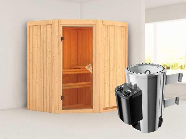 Sauna Systemsauna Tonja inkl. Plug & Play Saunaofen Steuerung