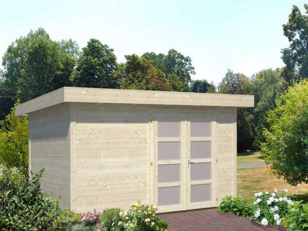 Gartenhaus Blockbohlenhaus Lara 8,4 m² 28 mm naturbelassen