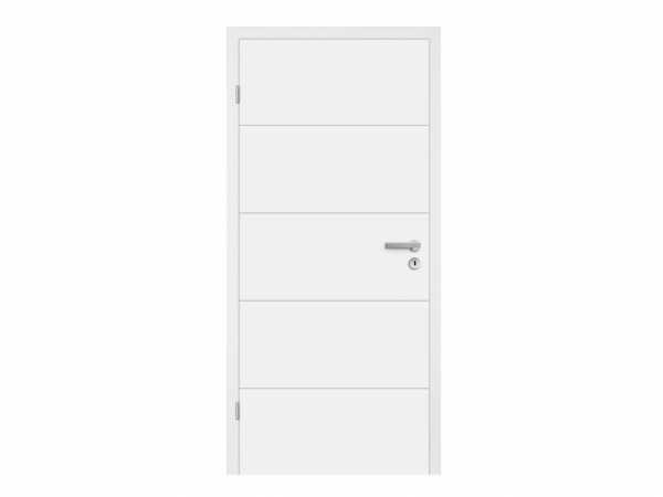 Wohnungseingangstür Mala 05 Weiß RAL 9010, Klimaklasse 3, Schallschutzklasse 1