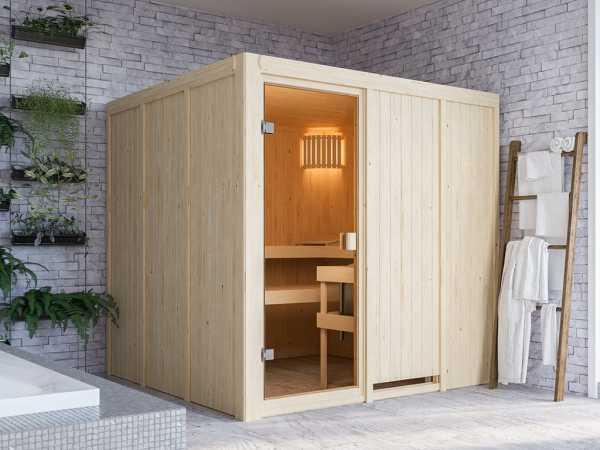 Sauna Systemsauna SPARSET Celine 4 inkl. 6,8 kW Ofen mit int. Steuerung