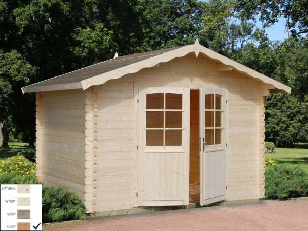 Gartenhaus Blockbohlenhaus Vivian 6,9 m² 28 mm braun tauchimprägniert