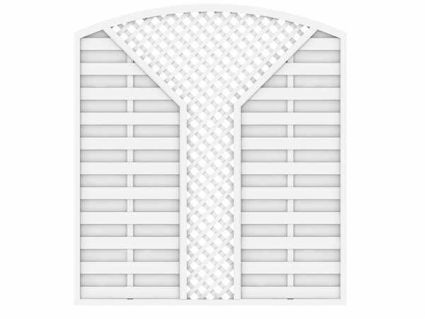 Sichtschutzzaun LONGLIFE ROMO V-Gitter weiß